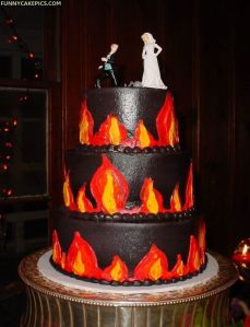 """Google """"cake in hell,"""" this is the first thing that comes up"""