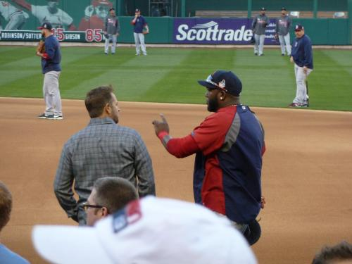 Here, Red Sox great and fellow MLB Network talking head Kevin Millar chats with future World Series MVP David Ortiz