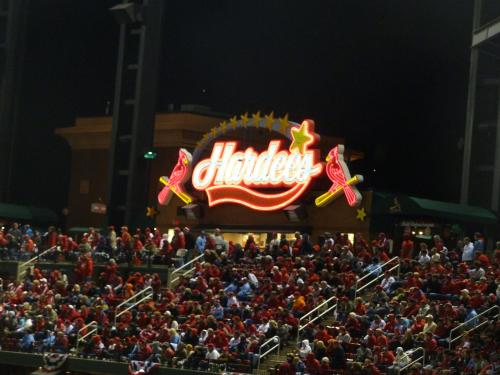 And, the stadium has a Hardee's along the third base line in the upper deck